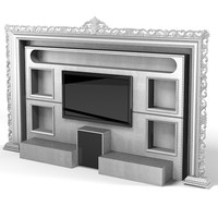 Vismara Classic TV Entertainment center wall cinema modern contemporary